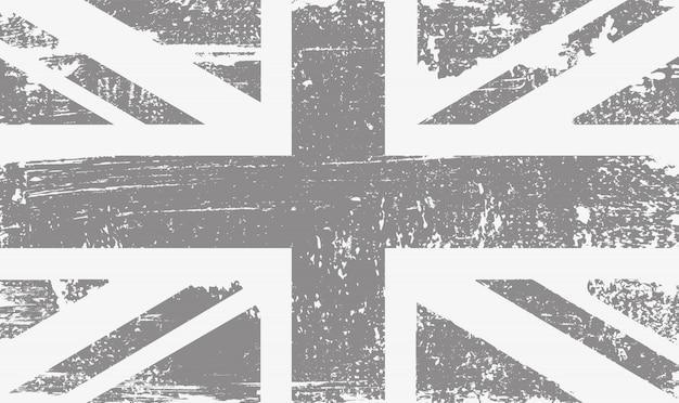 古いビンテージイギリス国旗 Premiumベクター