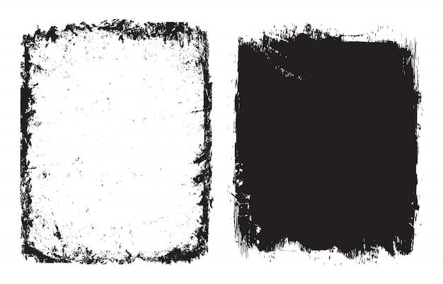 Абстрактные рамки гранж или фон набор Premium векторы