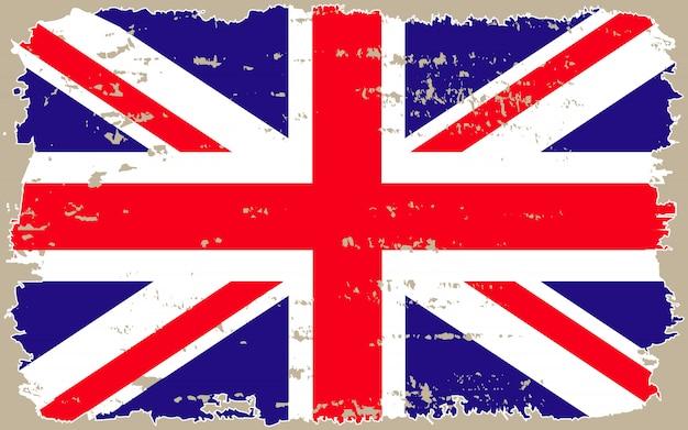 イギリスグランジフラグ Premiumベクター