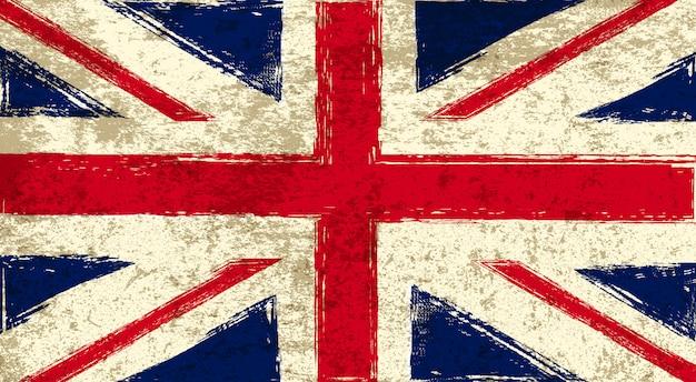Старый флаг соединенного королевства Premium векторы