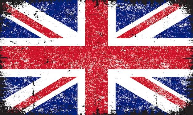 Гранж флаг соединенного королевства Premium векторы