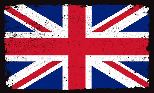 Гранж флаг великобритании Premium векторы