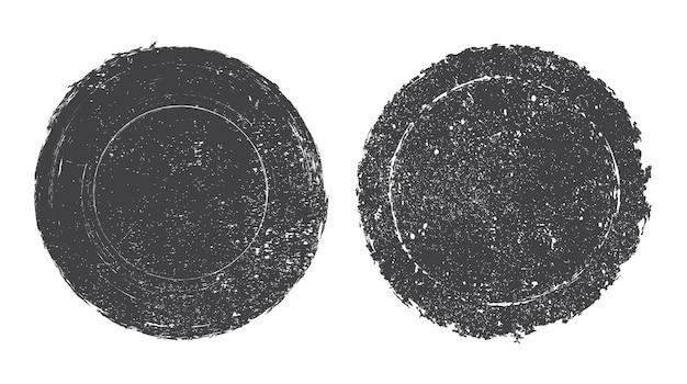 Гранж круглая печать Premium векторы