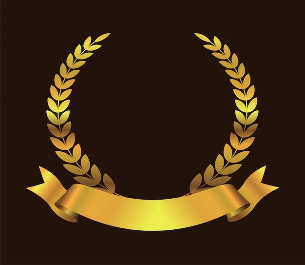Золотой символ премии Premium векторы