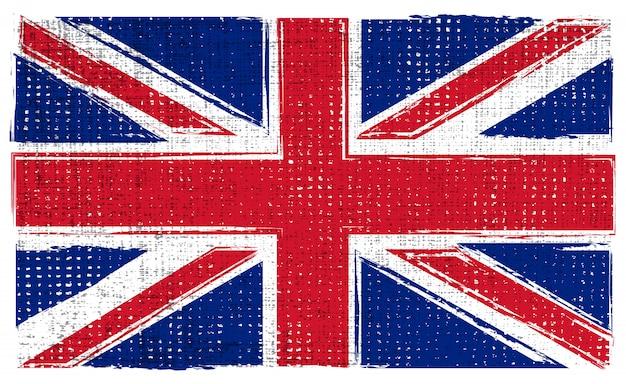 Великобритания гранж флаг Premium векторы