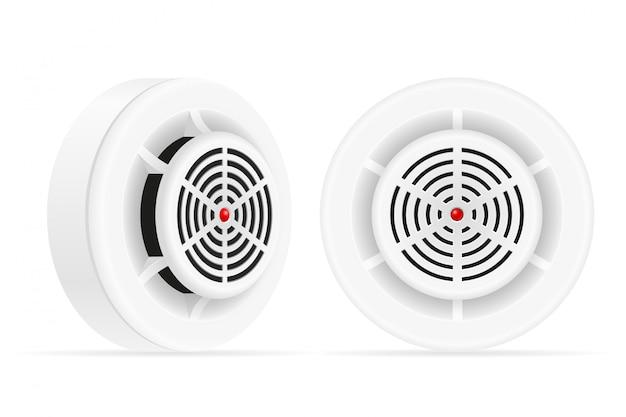 煙探知機の火災およびガスのホームセキュリティシステム Premiumベクター