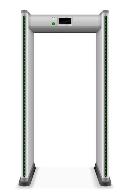 金属探知機スキャナー Premiumベクター