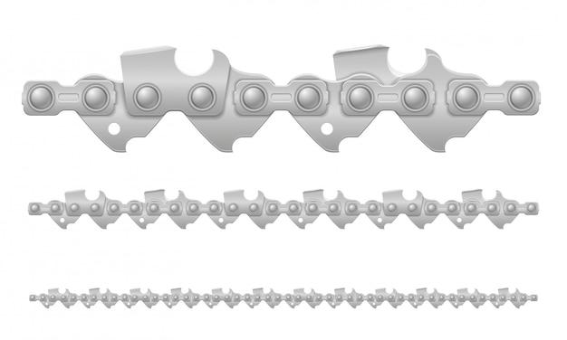 Цепная пила металлическая и резко заточенная векторная иллюстрация Premium векторы