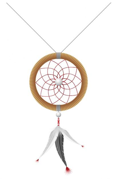 アメリカインディアンのお守りベクトルイラスト Premiumベクター