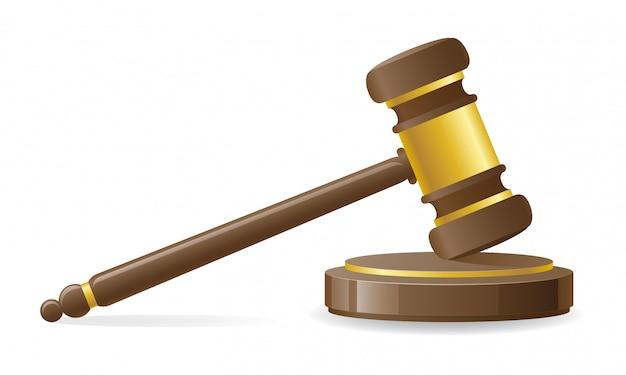 Судебный или аукционный молоток. Premium векторы