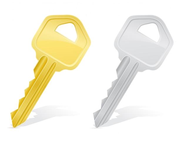 Ключи от дверного замка. Premium векторы