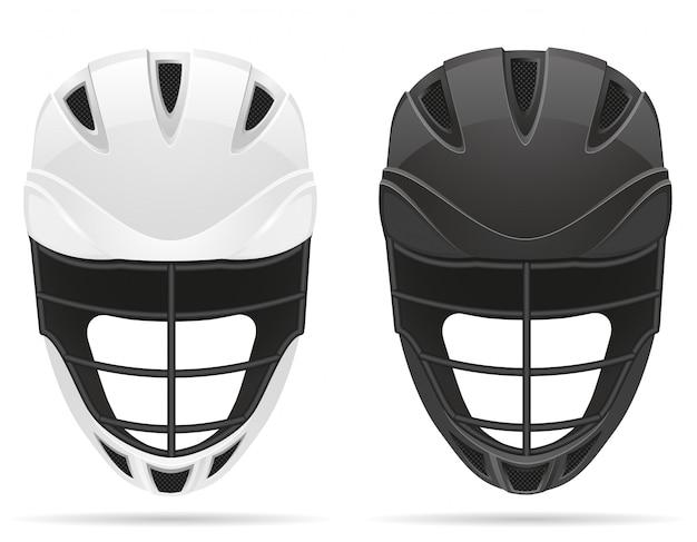 ラクロスヘルメット。 Premiumベクター