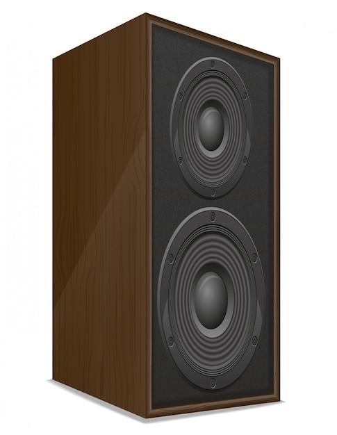 音響ラウドスピーカーのベクトル図 Premiumベクター