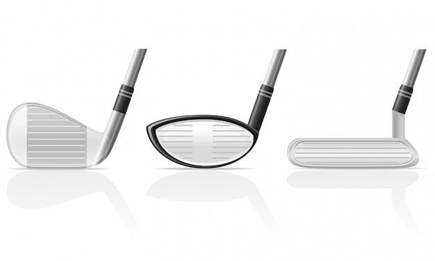 ゴルフクラブ。 Premiumベクター