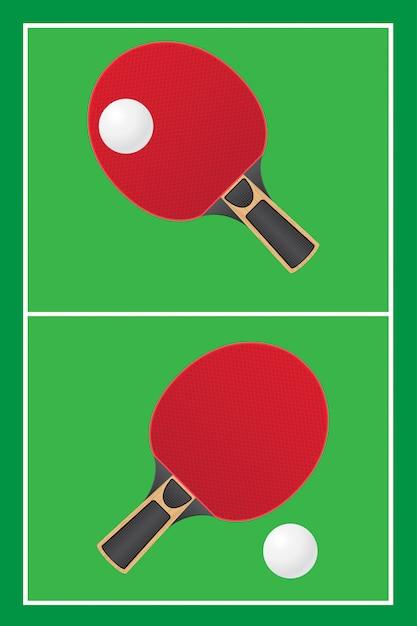 Настольный теннис настольный теннис вектор Premium векторы