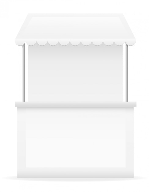 Белый ларек векторная иллюстрация Premium векторы
