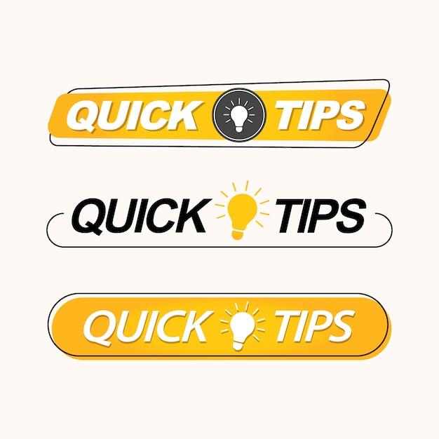 簡単なヒント、ラベル、ロゴ、またはエンブレムのセット Premiumベクター
