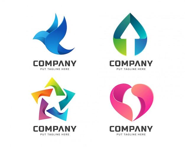 ビジネスのための抽象的なカラフルなロゴのテンプレート Premiumベクター