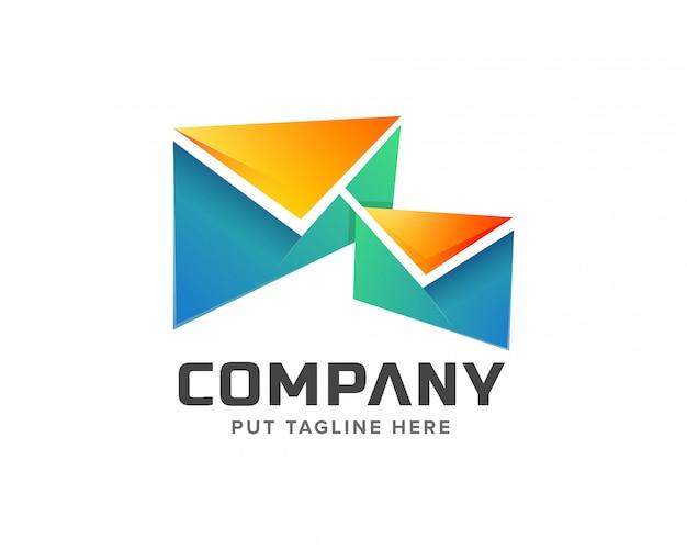 Творческий шаблон логотипа почты Premium векторы