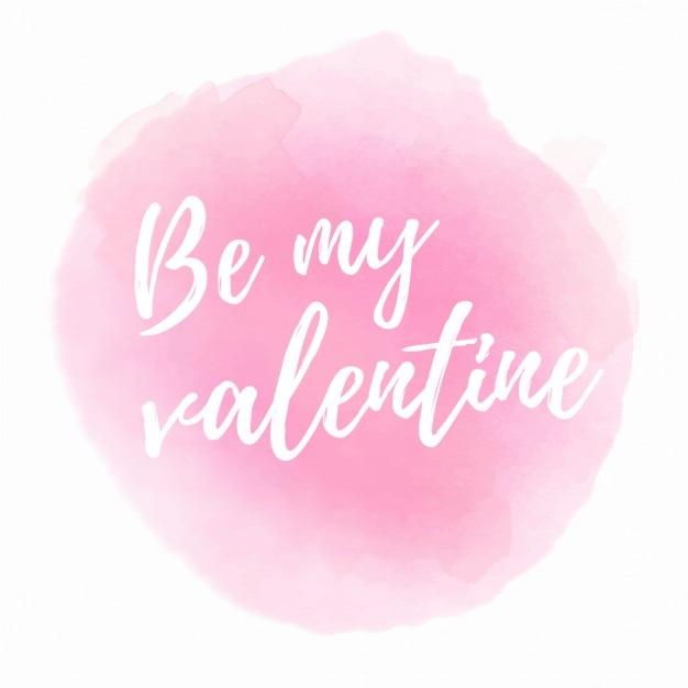 ピンクの水彩画とのロマンチックなフレーズ 無料ベクター