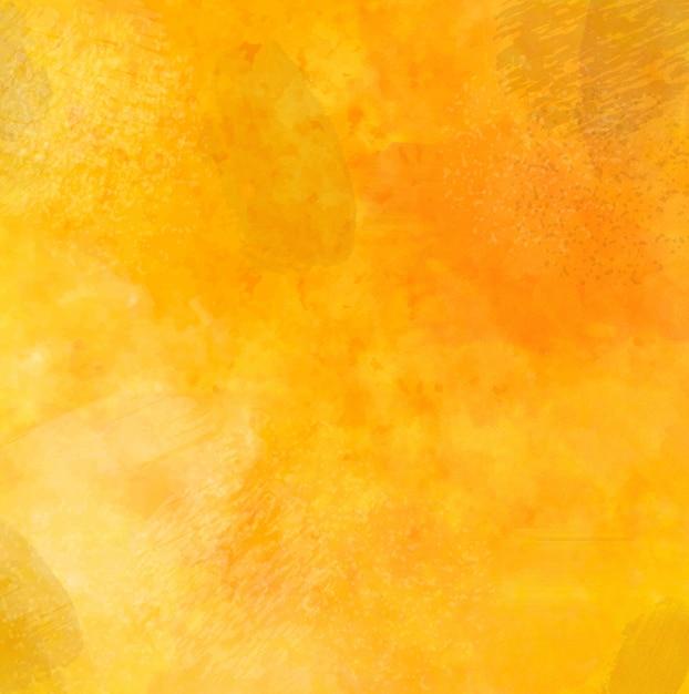 水彩とブラシストロークで黄色のグランジ背景 Premiumベクター