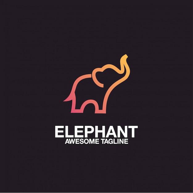 象のロゴデザイン素晴らしい Premiumベクター