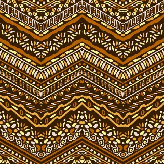 Вектор африканский стиль шеврона узор с племенными мотивами Бесплатные векторы