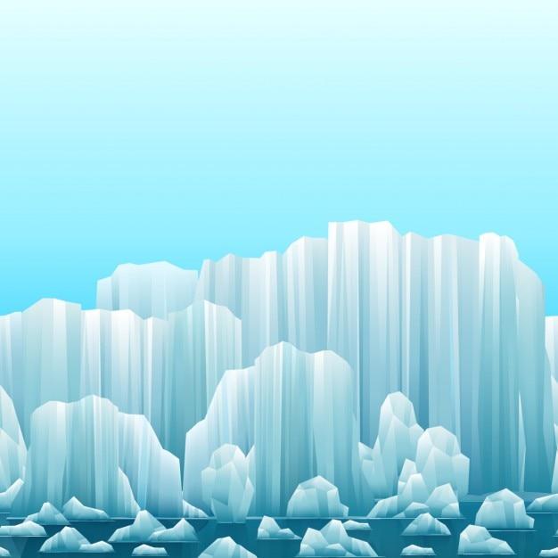氷山と背景 無料ベクター