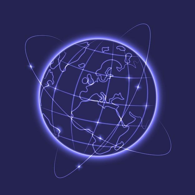グローイング地球ベクトル図 無料ベクター