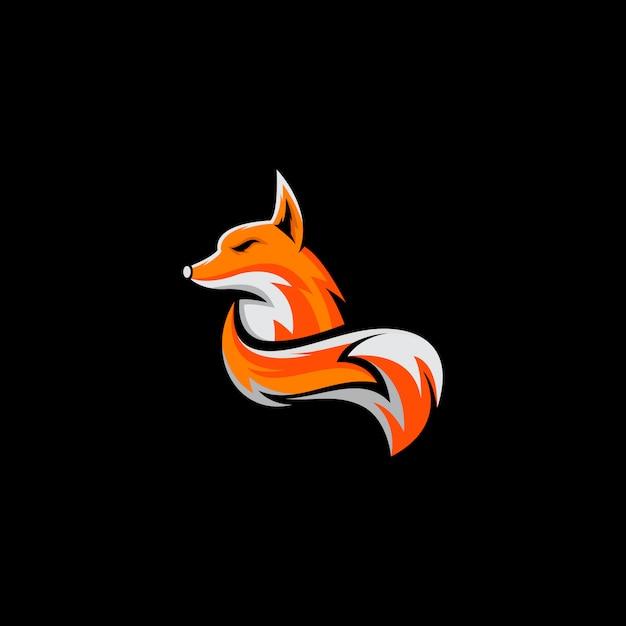 Удивительный дизайн логотипа лиса готов к использованию Premium векторы