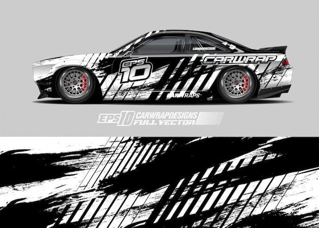 Дизайн раллийного автомобиля Premium векторы