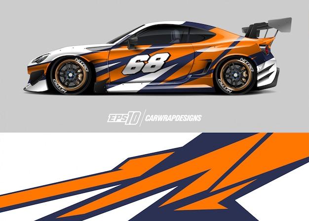 レースカーの模様デザイン Premiumベクター