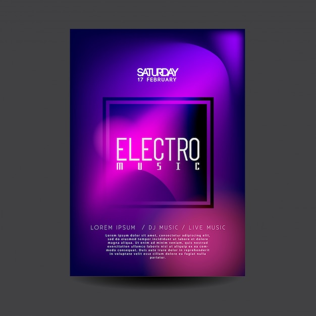 電子ダンスミュージックチラシ Premiumベクター