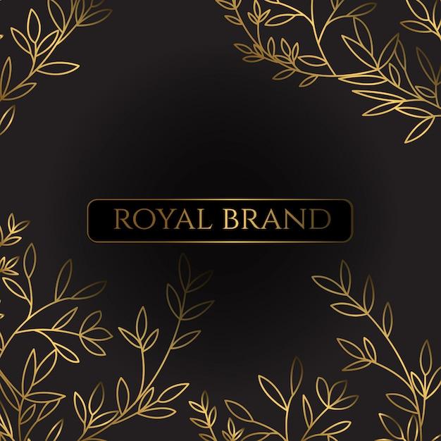 Роскошный фон с золотым цветом Premium векторы