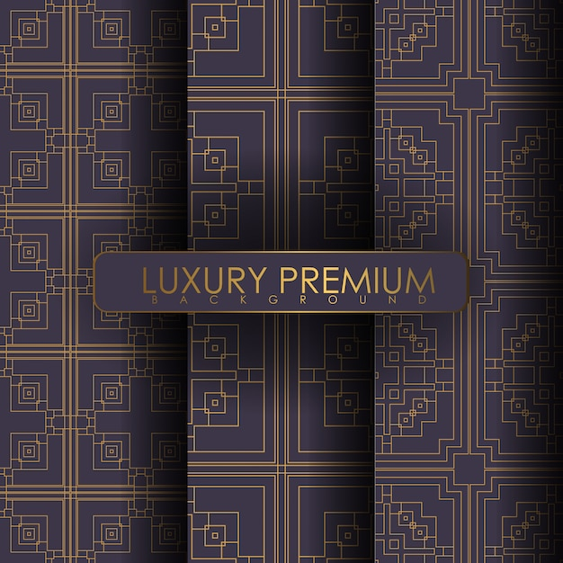 飾りのシームレスパターンのセット Premiumベクター