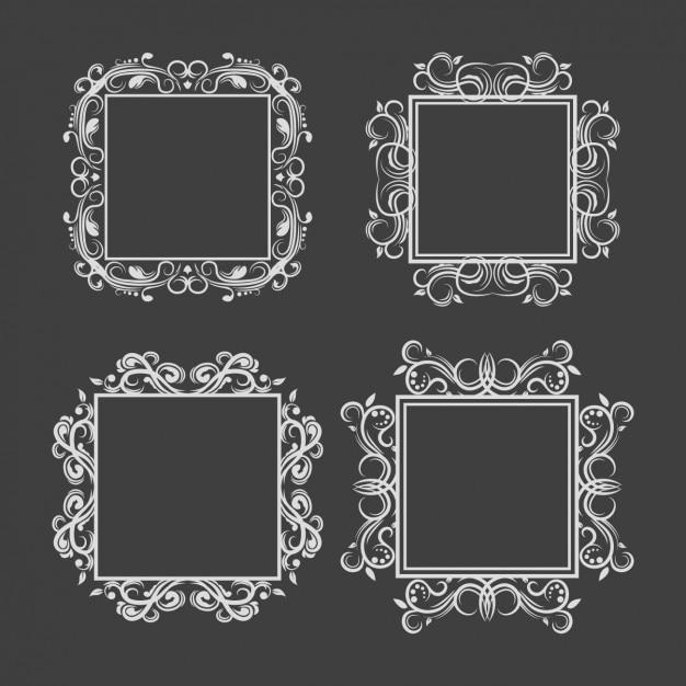 Серебристо кадры коллекции Бесплатные векторы