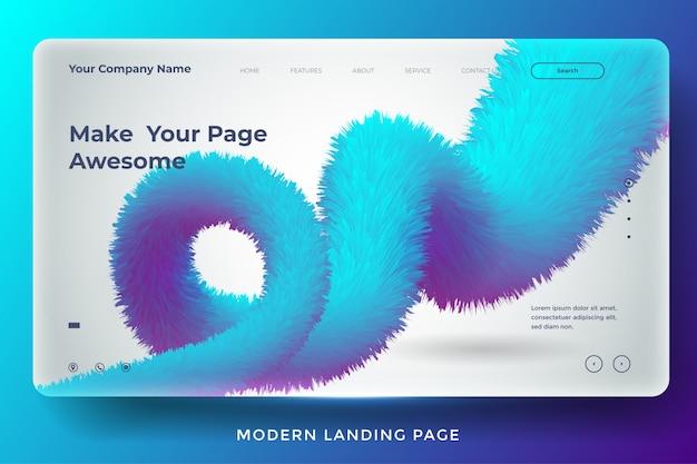 Современный абстрактный дизайн шаблона целевой страницы Premium векторы