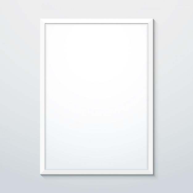 Вертикальная белая рамка макета Premium векторы