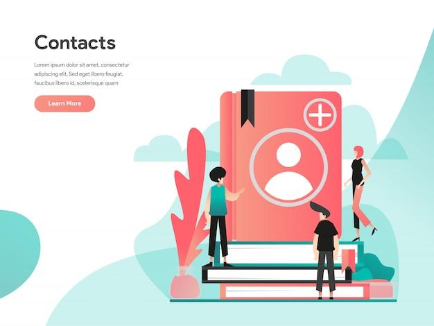 Веб-баннер телефон контакты Premium векторы