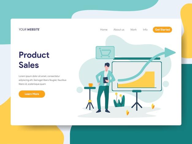 ウェブサイトページの製品販売 Premiumベクター