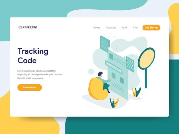 ウェブサイトページのトラッキングコード Premiumベクター
