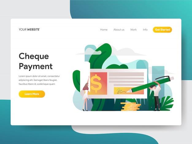 ウェブサイトページの支払いを確認する Premiumベクター