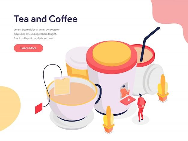 紅茶とコーヒーのイラスト Premiumベクター