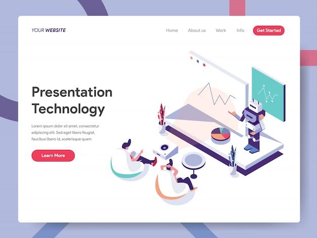 プレゼンテーションテクノロジーのランディングページ Premiumベクター