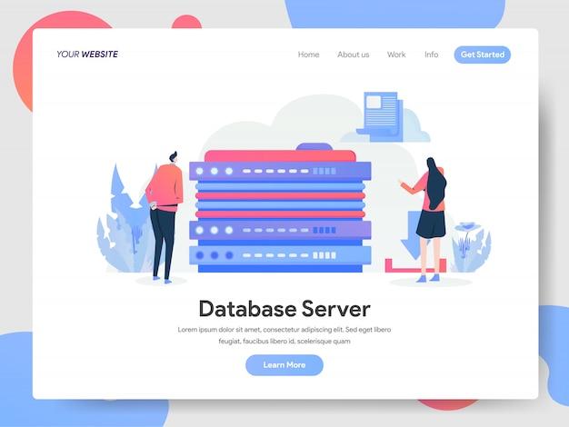 ランディングページのデータベースサーバーバナー Premiumベクター