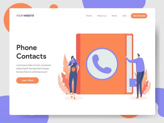 Иллюстрация контактов телефона Premium векторы