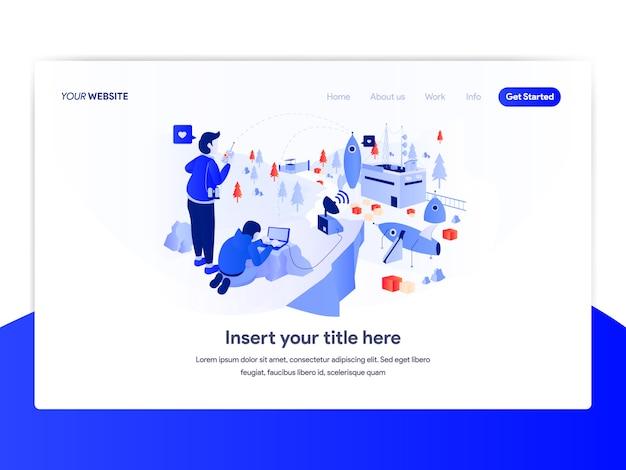 スタートアップビジネスコンセプトのホームページデザイン Premiumベクター