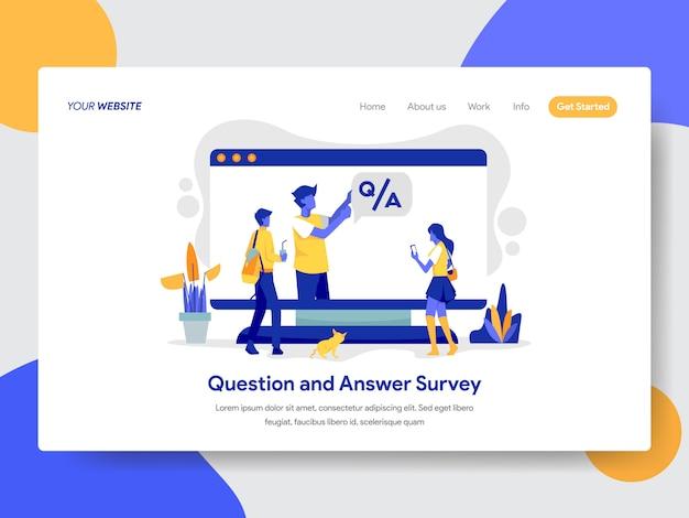 Вопрос и ответ. иллюстрация для веб-страницы. Premium векторы