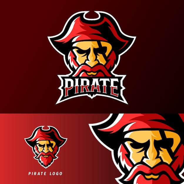 海賊スポーツやスポーツスポーツマスコットのロゴのテンプレート Premiumベクター