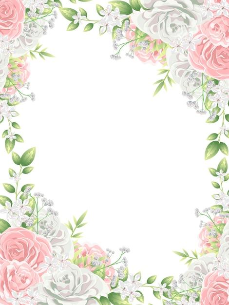 Красивые красочные цветы фон Premium векторы